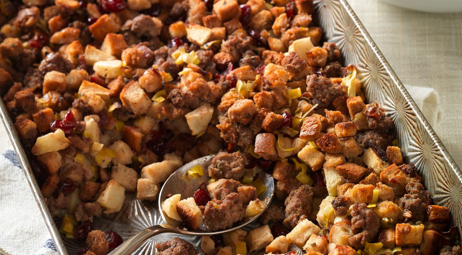 Beef Stuffing with Apples & Cranberries