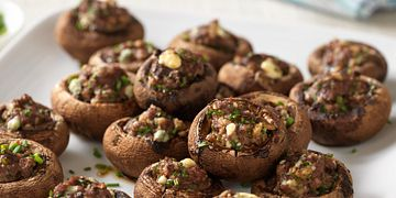 Beef and Blue Cheese Stuffed Mushrooms