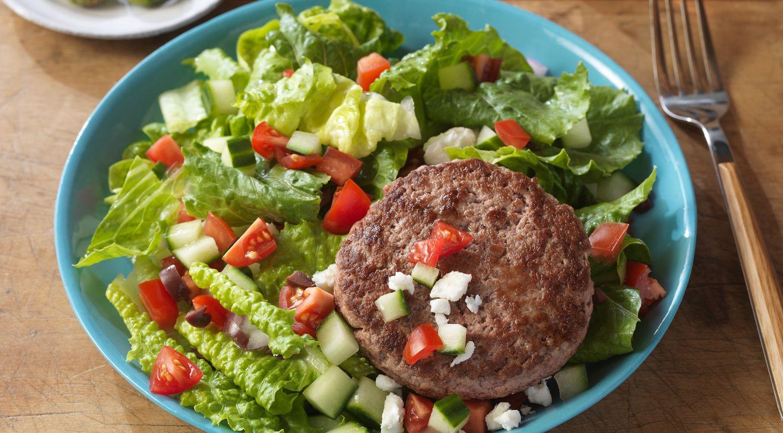 Burger on a Salad Four Ways