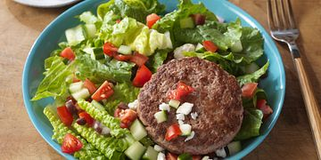 Burger on a Salad Four Ways