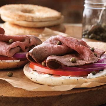 Beef and Cream Cheese Bagelwich