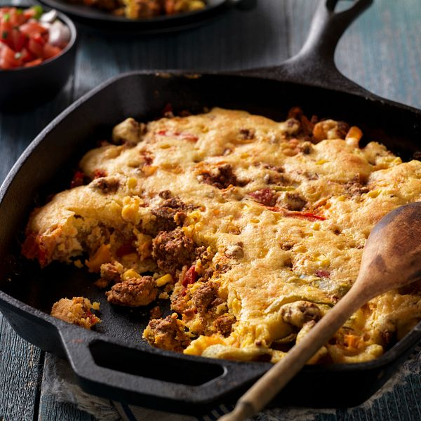easy-mexican-style-beef-sausage-cornbread-skillet
