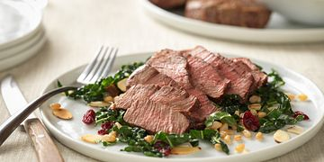 Beef Filets with Ancient Grain & Kale Salad