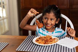 Kids Eating Spaghetti