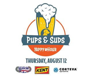 Pups & suds logo and sponsors