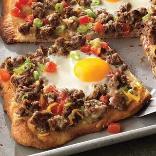 Beef Breakfast Pizza Ole