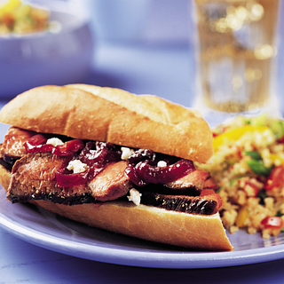 Sirloin Sandwiches with Red Onion & Dried Fruit Marmalade