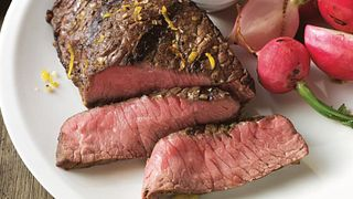 Grilled Top Sirloin Filets with Italian Salsa Verde