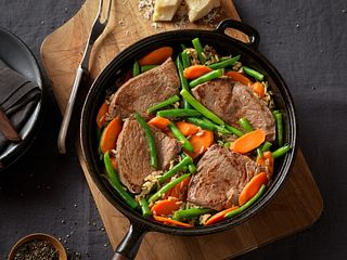 Beef Top Sirloin Steak with Brown Rice & Vegetables