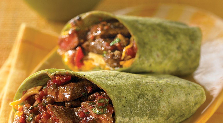 Get Up and Go Beef Burritos
