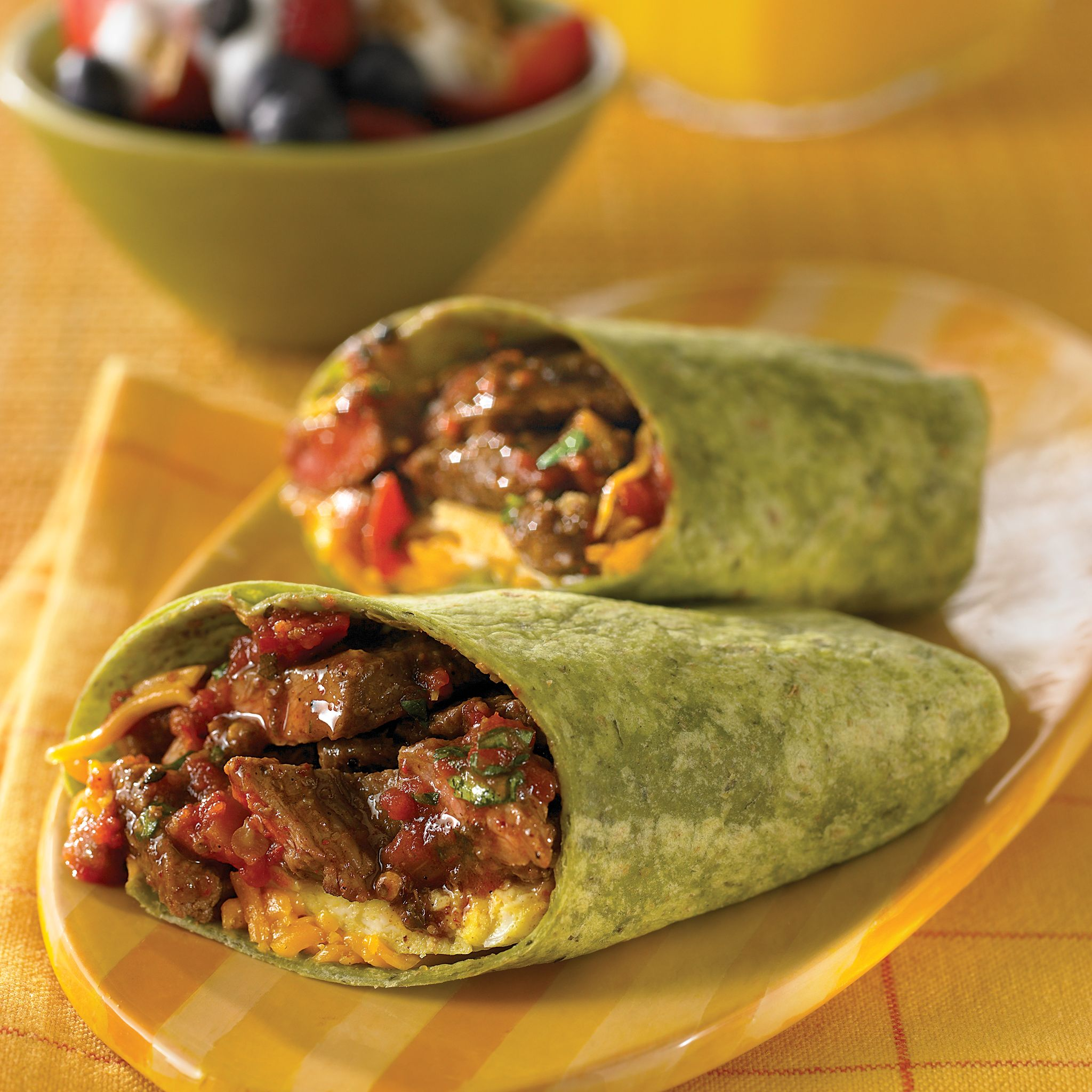 Get Up and Go Beef Burritos