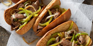 Philly Beef Cheese Steak Sandwiches