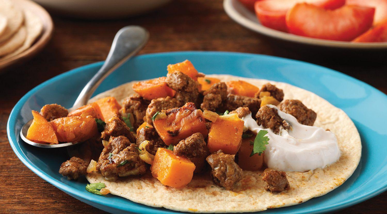 Beefy Sweet Potato Mash-Up