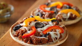 Made exactly as you like it, these individual pizzas are fun to make together.