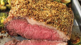 Parmesan-Crusted Strip Roast