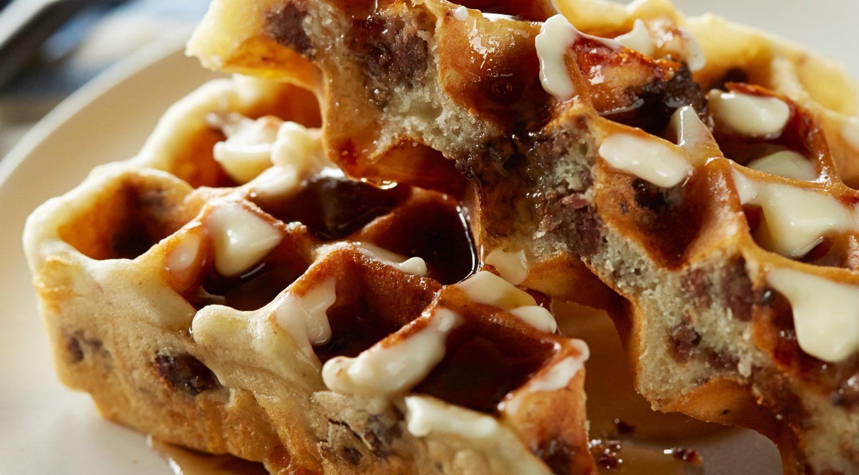Savory Beef Brunch Waffles