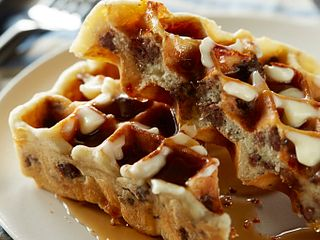 Savory Beef Brunch Waffles