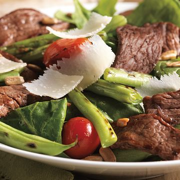 Steak, Green Bean and Tomato Salad