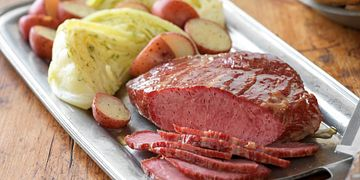 Homestyle Corned Beef with Dilled Cabbage Horizontal