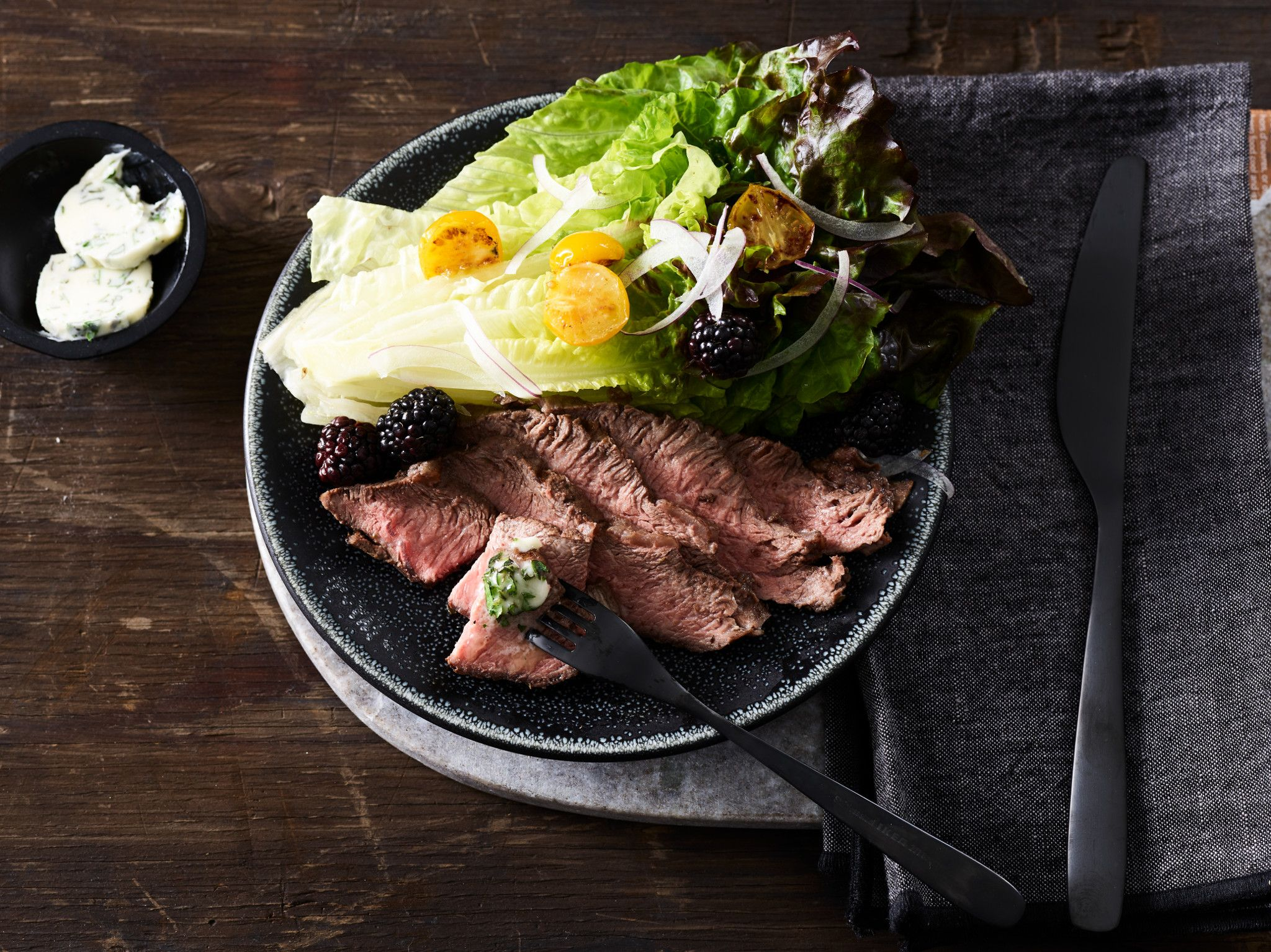 Smoked Beef Flat Iron with Herbed Ghee