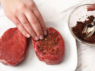 Espresso Rub how to pat rub on steak