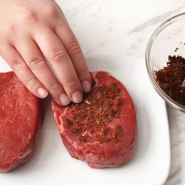 Espresso Rub how to pat rub on steak