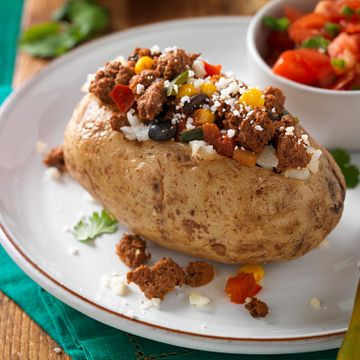 Mexican-Style Beef Baked Potato