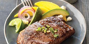 Spicy Grilled Ribeye Cap with Avocado-Mango Salad