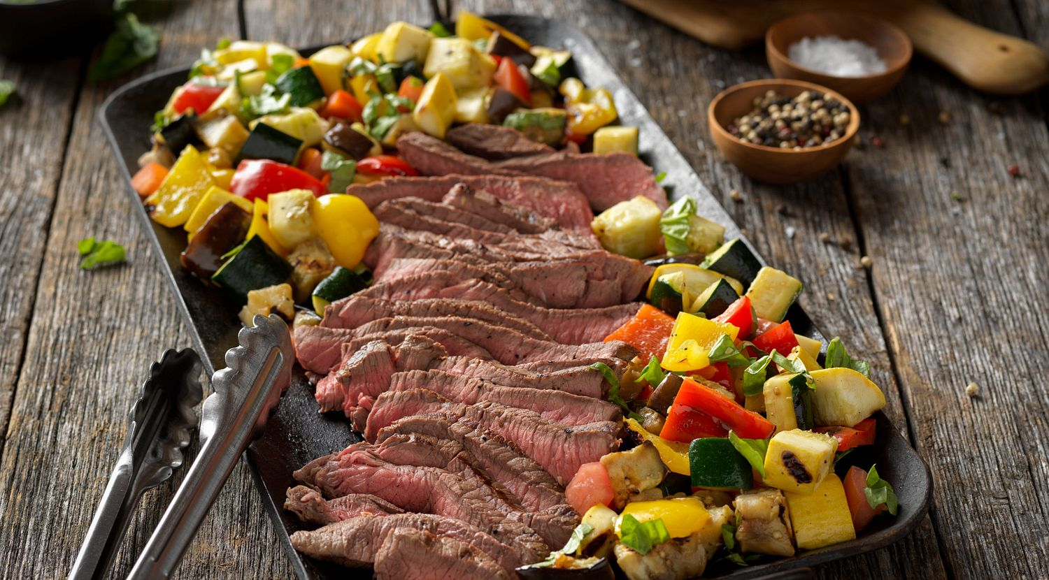 Italian Marinated Steak with Grilled Ratatouille