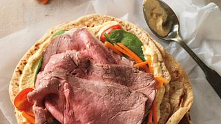 Mediterranean beef wrap