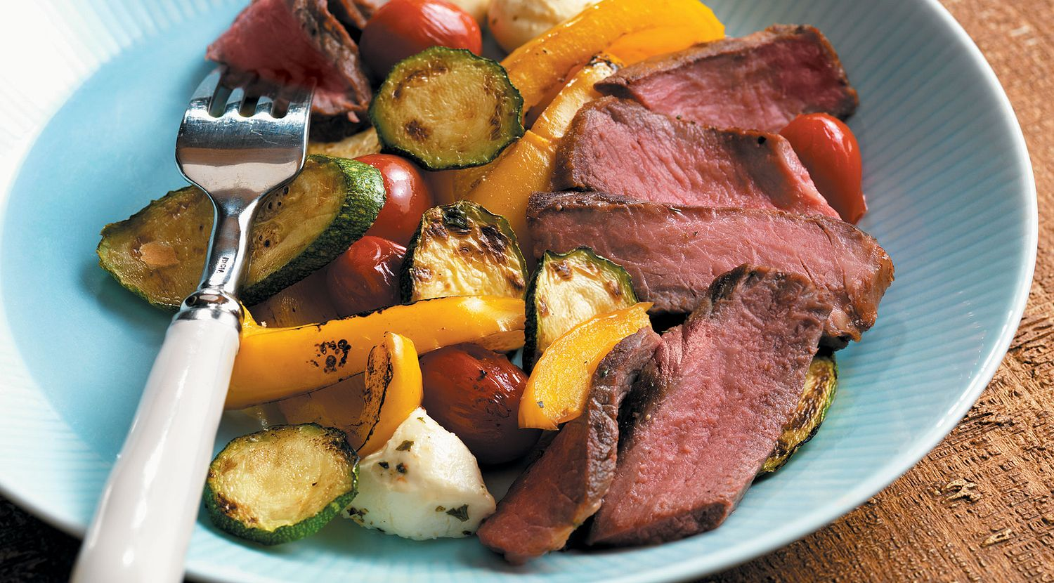 Sonoma Steaks with Vegetables Bocconcini