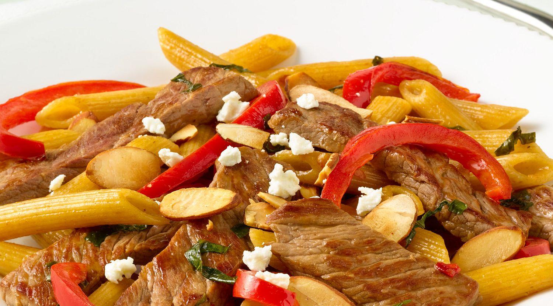 Basil Beef Asian Pasta Stir-Fry