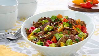 LEMON GRASS BEEF WITH AVOCADO