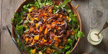 Confetti Beef Taco Salad