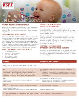 Feeding Tips for Healthy Infant Growth