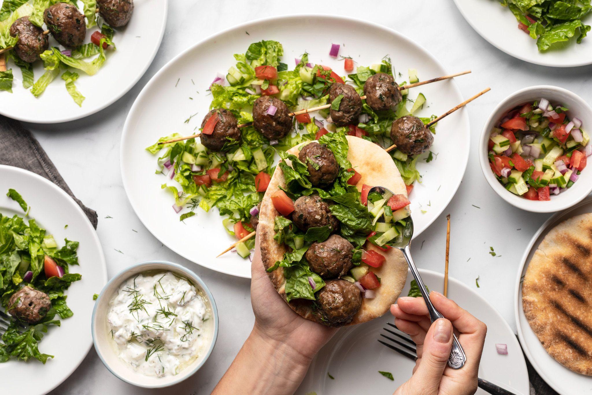 Mediterranean Beef Meatball Kabob Beef Loving Texans