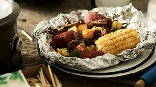 Foil Packet Beef and Vegetable Meal