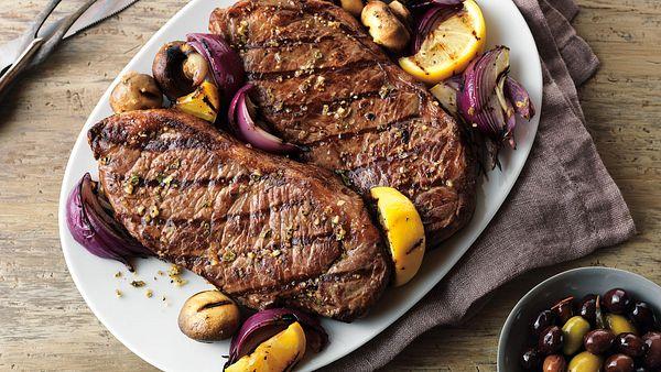 grecian-beef-top-loin-steaks-and-mushroom-kabobs