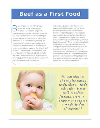 Beef as a First Food