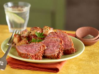 Roasted Sun-Dried Tomato Beef Tri-Tip & Potatoes