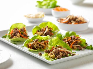 Beef and Ramen Lettuce Wraps
