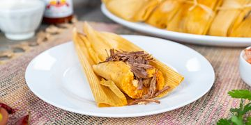 Tapatio Hot Sauce Beef Tamales