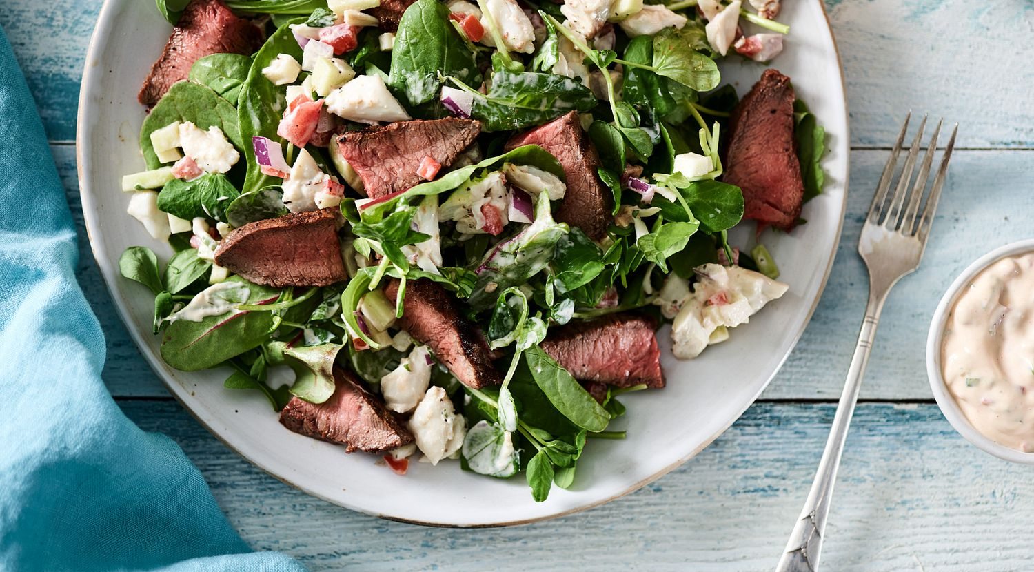 Beef Flat Iron Steak Salad with Remoulade Sauce