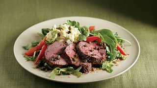 all-day steak salad with shoulder petite tender