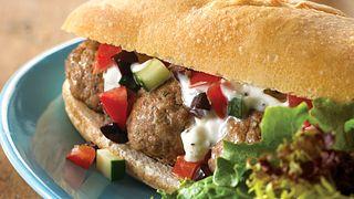 greek meatball subs