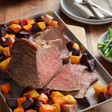 One Pan Beef Roast with Root Vegetables