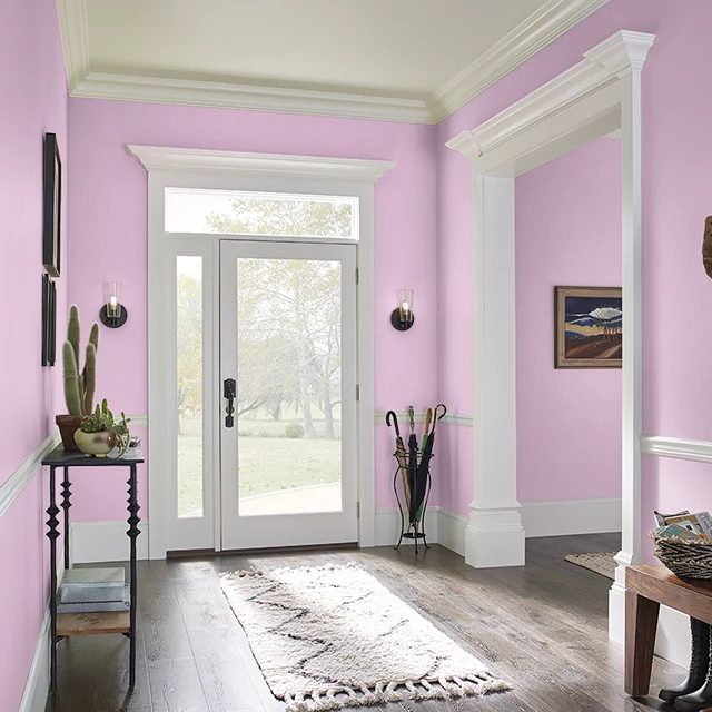 Foyer painted in BERRY CREAM