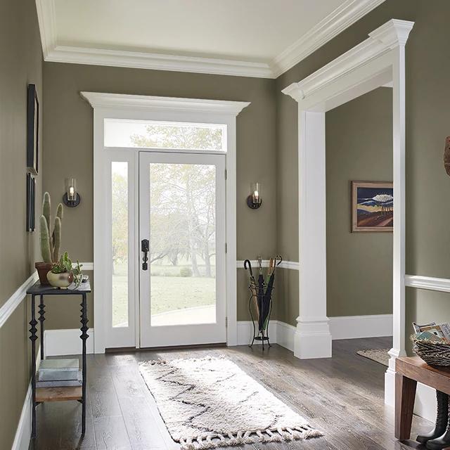 Foyer painted in TEA LEAF