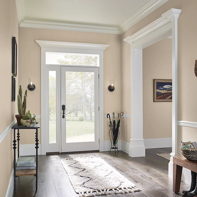 Foyer painted in RANCH HOUSE