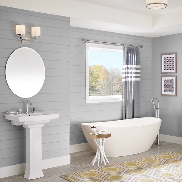 Bathroom painted in HIPPOPOTAMUS GRAY
